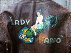 A-2 Bomber Jacket Art (WWII) - LADY MARGO
