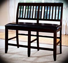 Steve Silver Victoria Victoria Counter Height Ladder Back Bench
