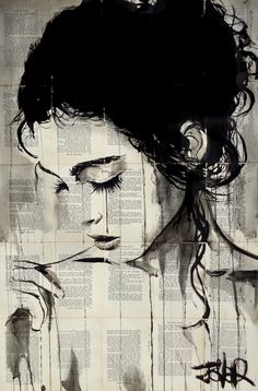 LENORE, Ink drawing by Loui Jover | Artfinder