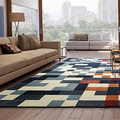 Resultado de imagem para tapete pixel Loft, Contemporary, Rugs, Design, Home Decor, 1, Farmhouse Rugs, Geometric Rug, Throw Pillows