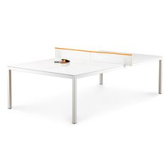 White Orange Ping Pong Conference Table Modern Office Furniture Poppin