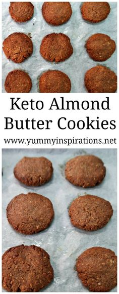 Keto Almond Butter Cookies - Easy Low Carb Cookies with only 3 ingredients - Almond Butter, Eggs and Stevia. Completely flourless, Paleo, Whole 30 and gluten free too. #ketorecipes #keto #ketodiet #ketogenicdiet #ketogenic #ketocookies #almondbutter #almondbuttercookies