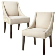 Cutback Dining Chair Green Leaf - Set of 2