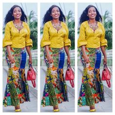 Current Ankara Styles You Will Surely Love To See - Ankara collections brings the latest high street fashion online African Inspired Fashion, Africa Fashion, African Fashion Dresses, African Attire, African Wear, African Women, African Dress, African Tops, African Clothes