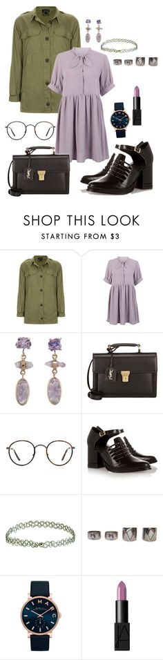 """""""Baby"""" by hushflower ❤ liked on Polyvore featuring Topshop, Yves Saint Laurent, Kensington Road, Purified, Marc Jacobs and NARS Cosmetics"""