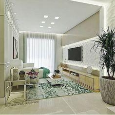 Bom dia people! Começando o dia com essa lindeza de sala de TV.😍❤️ Projeto: Luciana Macedo.