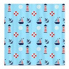 Of Lighthouses & Sailing Shower Curtain