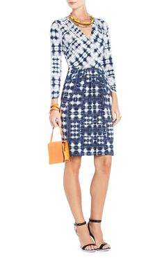 Jaslyn Printed Side-Pocket Dress | BCBG