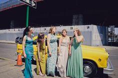 bridesmaids - photo by Khaki Bedford Photography http://ruffledblog.com/whimiscal-new-york-wedding-at-mymoon