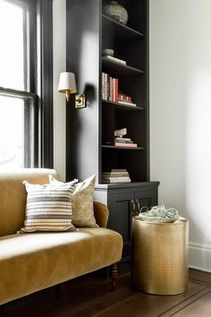 Hastings-On-Hudson, Library, Interior Design by Becca Interiors