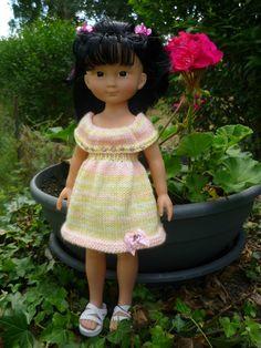 Robe pour poupée Chérie (Adaptation du modèle de Nathalie du blog « Histoires de Poupées » du 12/06/2016): 1) http://marieetlaines.canalblog.com/archives/2016/06/23/33986516.html 2) http://p5.storage.canalblog.com/54/90/1066432/111272964.pdf