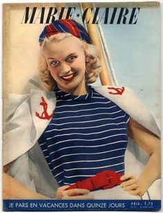 I love red, white and blue...and I love her hat!