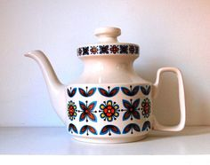 60s teapot VINTAGE Staffordshire Potteries Rudyard by hurdyburdy,
