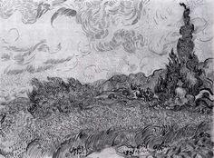 Drawings (Saint-Rémy, Auvers-sur-Oise, 1889-90)