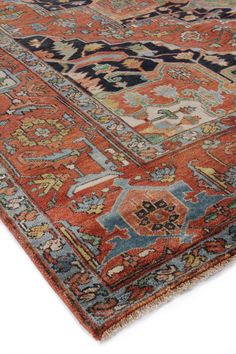 Shop the Serapi Hand-Knotted Wool Red/Blue Area Rug at Perigold, home to the design world's best furnishings for every style and space. Plus, enjoy free delivery on most items. Red Persian Rug, Persian Carpet, Persian Motifs, Beach Bedroom Decor, Rug Studio, Carpet Trends, Palette, Floor Art, Rugs Usa