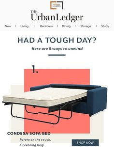 Had a tough day? - Urban Ladder (gif)