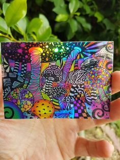 Excited to share this item from my shop: Holographic Mushroom Trippy Sticker. Psychedelic sticker indoor and outdoor Stickers - High quality Holographic stickers. Hippie Drawing, Hippie Painting, Trippy Painting, Psychedelic Drawings, Trippy Drawings, Art Drawings Sketches, Small Canvas Art, Mini Canvas Art, Outdoor Stickers