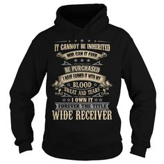 WIDE RECEIVER T-Shirts, Hoodies. GET IT ==► https://www.sunfrog.com/LifeStyle/WIDE-RECEIVER-92281760-Black-Hoodie.html?id=41382