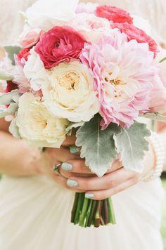 Modern + colorful wedding bouquet: http://www.StyleMePretty.com/canada-weddings/ontario/2014/01/13/modern-art-gallery-wedding/ | Nikki Mills Photography: