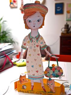 Dress up paper doll kit Molly Dolly little Min