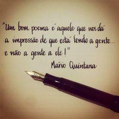 Mario Quintana's quote about poem handwriten with Montblanc 244G flex nib