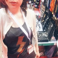repping @thecolorfulgeek's new lightning bolt tank for the last day of #C2E2. ⚡️come visit us at booth 680!