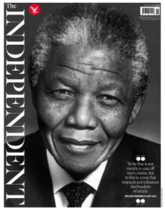 The Independent (December 6 2013) with Nelson Mandela