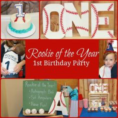 Baseball Party - Rookie of the Year 1st Birthday Party