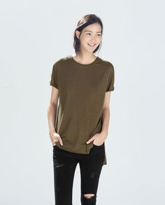 ZARA - TRF - SHORT SLEEVE T-SHIRT