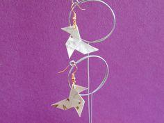 orecchini con carta riciclata