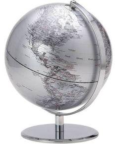 IMAX 73395 Rada Globe with Marble Base Gray