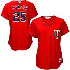Byron Buxton Minnesota Twins Majestic Women's Cool Base Player Jersey - Scarlet - $99.99
