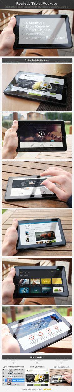 Realistic Tablet Mockups - GraphicRiver Item for Sale