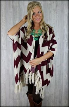 Oversized chevron cardigan in maroon Love this one too!