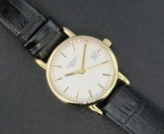 Ferro Jewelers - Watches   LADIES TWO-TONE WATCH WITH BLACK CROCODILE STRAP