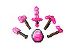 8 Bit Video Game Perler Tools Pink Diamond- Choose 1 or full set