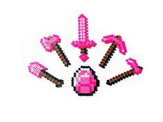 8 Bit Video Game Perler Tools Pink Diamond- Choose 1 or full set