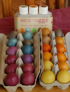 Eco-eggs Easter egg coloring kit, there it is again! Beautiful colors!