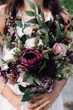 wedding flowers 54 Cascade Wedding Bouquets For Charming Brides - Page 46 of 54 - VimDecor Cascading Wedding Bouquets, Lilac Wedding, Fall Bouquets, Wedding Flower Arrangements, Floral Wedding, Dream Wedding, Flower Bouquets, Plum Wedding Colors, Bridesmaid Bouquets
