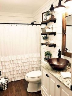 78 Cool Small Farmhouse Bathroom Remodel Design Ideas