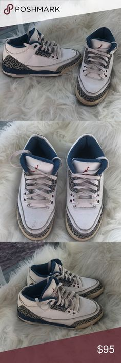 RETRO 3 TRUE BLUE 3s Pre-owned Air Jordan Retro 3 true blues 8.5 10  condition Grade school size 5 (fits women 6.5) Ships the same day Message  me with any ... 81fae1577