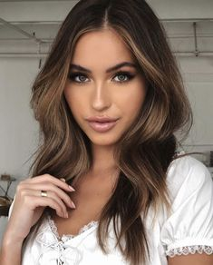 Lovely Long Balayage Colored Hairstyles To Try Right Now - Othence Hair Day, New Hair, Medium Hair Styles, Long Hair Styles, Waves Curls, Curls Hair, Soft Waves Hair, Tips Belleza, Balayage Hair