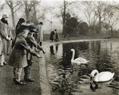 London in the 1920's-Serpentine, Hyde Park