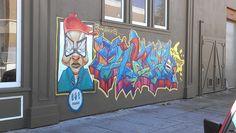 Graffiti at an empty intersection #urban