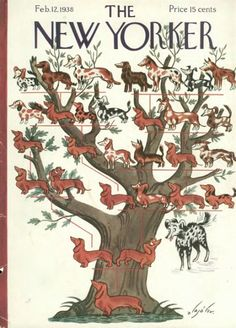 alajalov, new yorker cover, dog tree