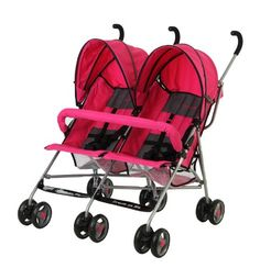 Dream On Me Double Twin Stroller, Pink   Tote two tots around in the Twin Stroller from Dream On Me! This ultra lightweight double stroller features plenty of storage for all of Read  more http://shopkids.ca/tools-accessories/dream-on-me-double-twin-stroller-pink