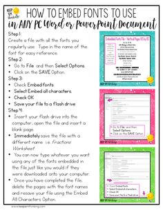 This fantastic font hack shows how to use fonts in Word or PowerPoint documents on ANY PC without having to install them. Teaching Technology, Educational Technology, Instructional Technology, Technology Lessons, Instructional Strategies, Technology Tools, Instructional Coaching, Technology Integration, School Computers