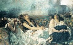 Hashish Smokers by Gaetano Previati, 1877. Private collection. Photo by Getty Images