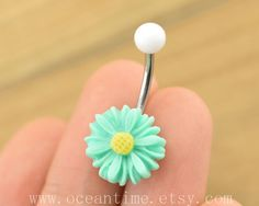 Belly Button jewelry,little daisy Navel Jewelry, belly button ring,girlfriend gift,daisy belly ring