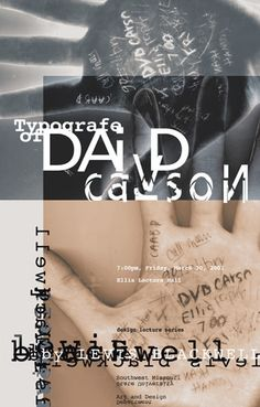 2001, David Carson : Typographe